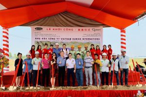 GROUNDBREAKING CEREMONY FOR VIETNAM OURIES INTERNATIONAL FACTORY PROJECT.